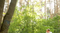 man on bmx in the woods the sun video