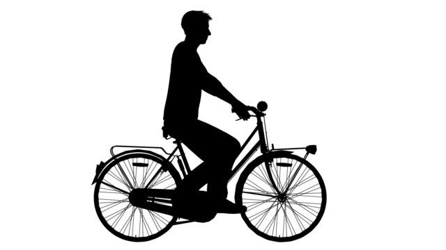 Man on cycle ride (Loopable) video