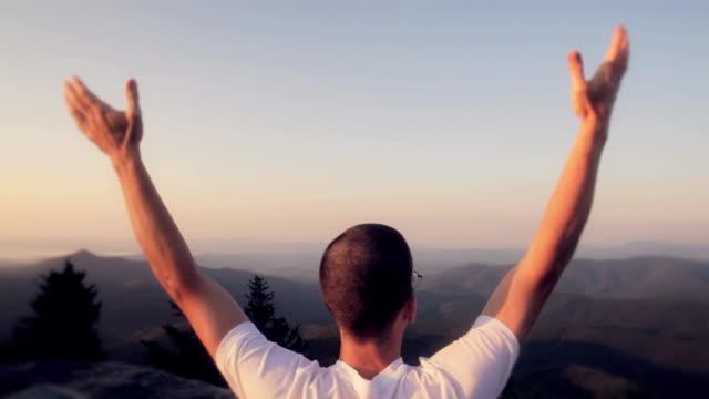 Man On Mountain Top video