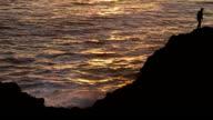 Man on Ocean Cliff Slo-mo video
