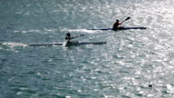 Man Padlling in canoe video
