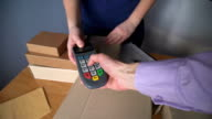 man, pays for delivery by phone and payment terminal video