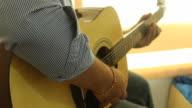 Man play the guitar video