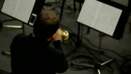 Man Playing Brass Lacquered Trumpet video