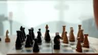 Man playing chess video