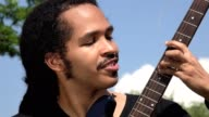 Man Playing Electric Guitar video