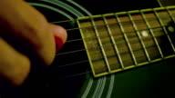 man playing guitar close up video
