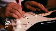 Man Playing Guitar in the Studio video