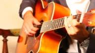 HD: Man Playing Guitar video