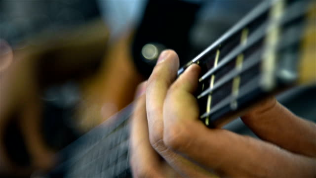 Man Playing On Bass Guitar video