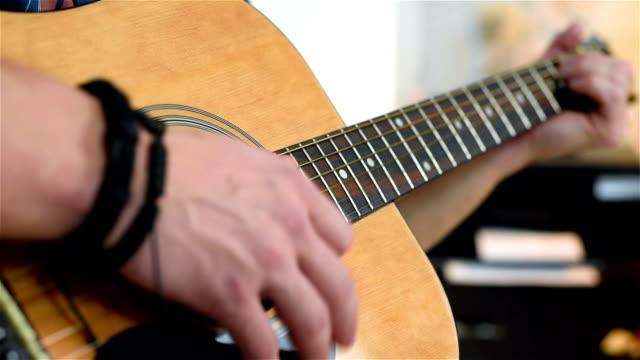 Man Playing On Guitar video