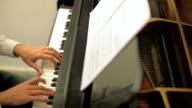 Man playing piano video
