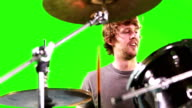 A Man playing the drums video