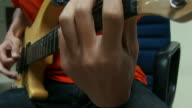 Man playing the Electric Guitar video