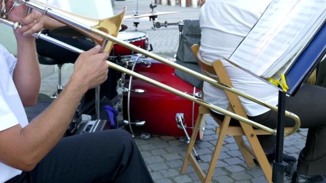 Man Playing Trombone video