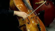 Man playing violoncello video