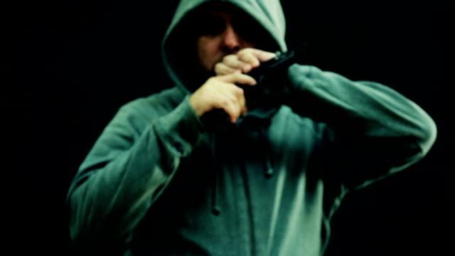 Man points gun video