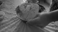 Man prepares dough video