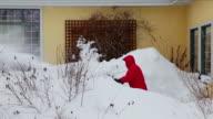 Man pushing snow blower video
