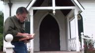 man reading bible video