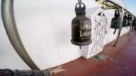 A man rings the bell in the temple. Taking the first-person. video