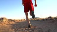 SLO MO LA Man Running In The Desert video
