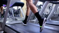 Man running on treadmill video