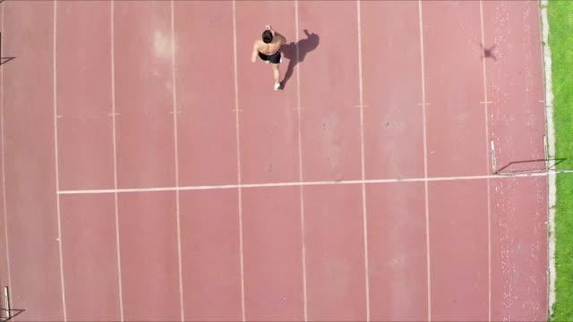 man running video