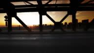 Man runs across bridge video