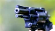 Man shoots a revolver video