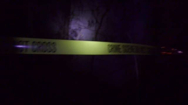 Man shot dead at crime scene at night video