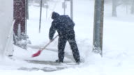 Man Shoveling Snow 03 video