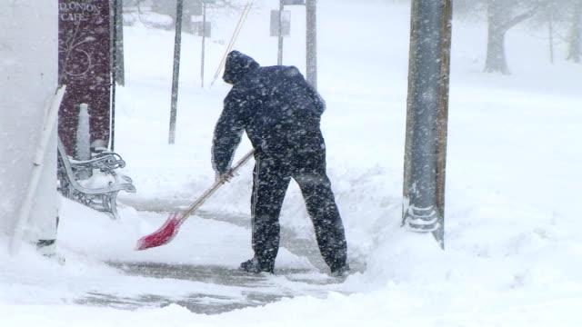Man Shoveling Snow 03 video