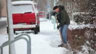 Man shoveling snow video