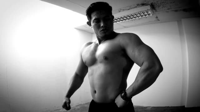 Man Showing His Muscle video