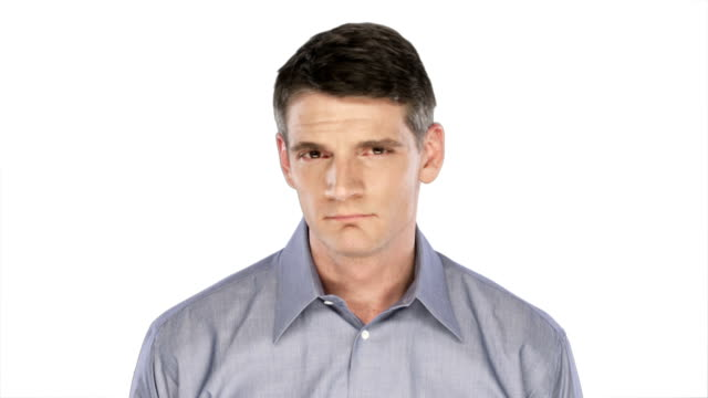 Man showing little expression video