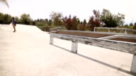 Man Skateboarding In Skatepark Extreme Sport video