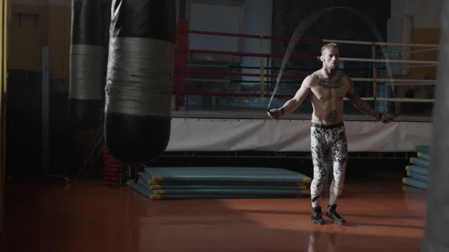 Man skipping rope video