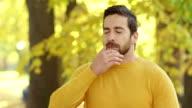 Man Sneezing video