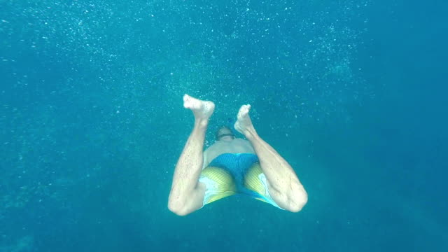 Man snorkeling video