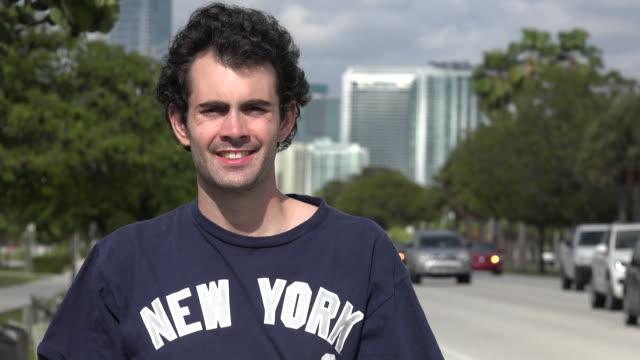Man Standing Near Highway video