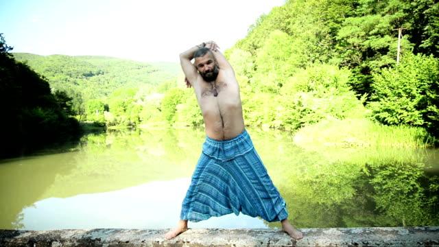 Man stretching video