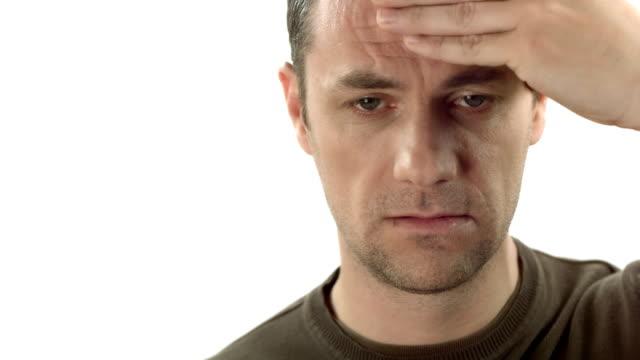 HD: Man Suffering From A Headache video