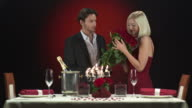 HD: Man Surprising Beautiful Woman With Flowers video