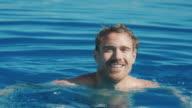 Man swimming in pool video