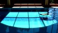 Man Swimming Underwater Breaststroke In Luxurious Swimming Pool video