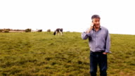 Man talking on mobile phone video