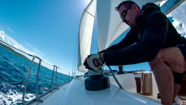 MS Man Tightening The Sail video