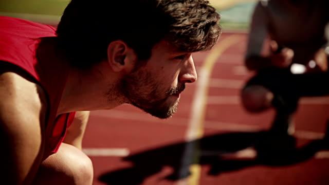 Man training for triathlon video