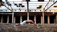 Man training video